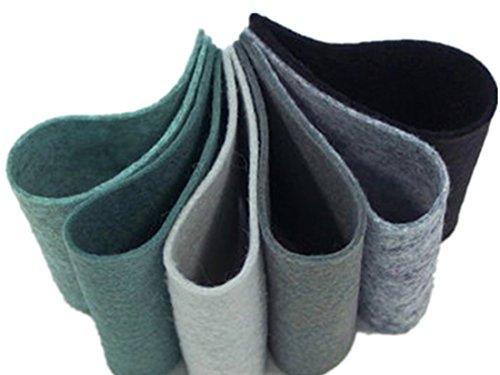 Felt Bundle,Wool Blend Felt Sheets, 9 x 12 inches, Pastel Felt, Pure Merino Wool, Set of Twelve,Wool Assortment, Embroidery Floss, Stuffing, DIY Felt Set, DIY Felt Flowers, 1mm (2, 9 x 12 inches) (Felting Felt Thread)