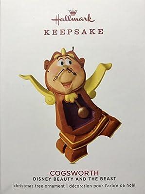 Hallmark Keepsake Ornament 2018 Cogsworth Disney Beauty and the Beast Limited Edition