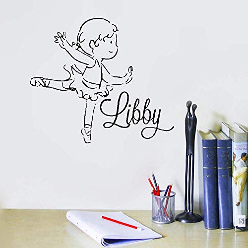 Liuaio Wall Sticker Quotes Decals Decor Vinyl Art Stickers Ballerina with Personalized Name