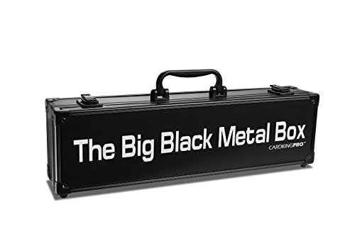Cards Against Humanity Case | The Big Black Metal Box (LONG Edition) By CardKingPro (Game Not Included) | Includes 8 Dividers | Fits up to 1400 Loose Unsleeved Cards