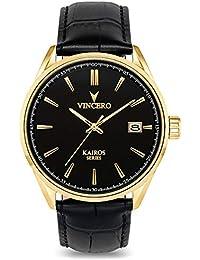 Luxury Men's Kairos Wrist Watch — Yellow Gold with Black...