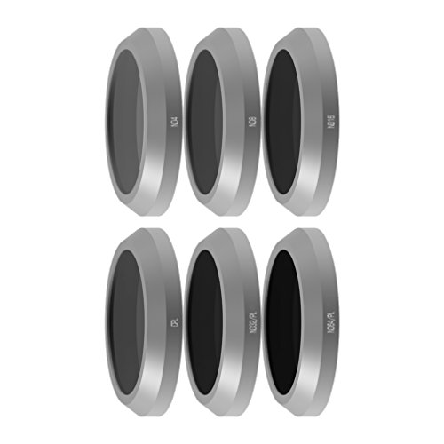Freewell Budget Kit E-Series - Camera Lens Filters Set 6Pack ND4, ND8, ND16, CPL, ND32/PL, ND64/PL Made for Used with Parrot Anafi - Kit Installation Parrot