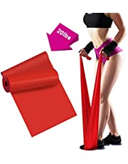Resistance Bands - 2m/6.5ft Professional Latex Elastic Bands for Home or Gym Upper & Lower Body Exercise, Physical Therapy, Strength Training, Yoga, Pilates, Rehab