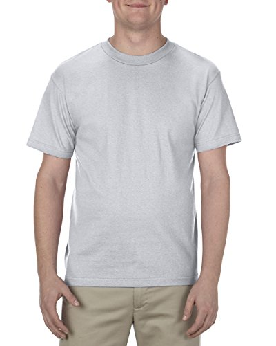 (Alstyle Apparel AAA Men's Classic Short Sleeve T-Shirt, Silver, Medium)