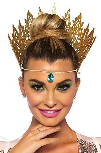 Leg Avenue Women's Glitter Queen Crown Costume Accessory, Gold, O/S