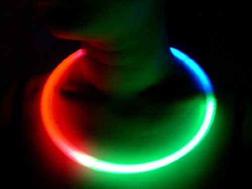 "Glow Sticks Bulk Wholesale Necklaces, 100 22"" Glow Stick Necklaces+100 FREE Glow Bracelets! Bright Red-Green-Blue, Glow 8-12 Hrs, Connector Pre-attached(Time Saver), Sturdy Packaging, GlowWithUs Brand"