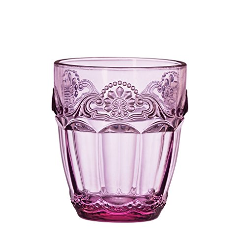 Amici Home Lilac Baroque Double Old Fashioned Glass, Set of 4
