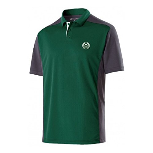 NCAA Colorado State Rams Men's Division Polo, Large, (Rams Performance Team Polo)
