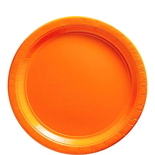 (Big Party Pack Orange Peel Paper Plates |  9