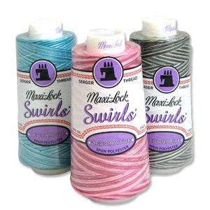 Maxi Lock Swirls (Maxi-Lock® Swirl - Variegated Thread 3,000 yds - #67 Rainbow)