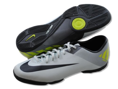 Nike Jungen Jr Bombax Ic Fußballschuhe Gelb / Grau / Schwarz (Bright Mango / Wolf Grau-Schwarz)