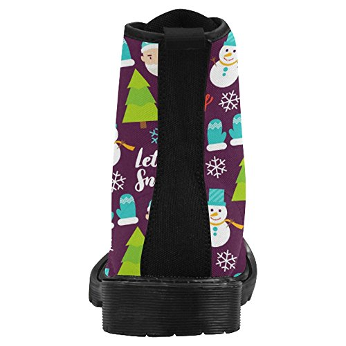 InterestPrint Womens Boots Unique Designed Comfort Lace Up Boots Multi 25 9ZwEDL