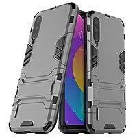 Capa Anti Impacto Armor Militar+ Película Vidro Full Glue 9d Xiaomi Mi A3 (CAPA ANTI IMPACTO ARMOR CINZA+PELÍCULA DE VIDRO FULL GLUE 9D PRETA)