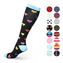 Compression Socks Women & Men- Best for Running, Nurse, Crossfit, Shin Splints