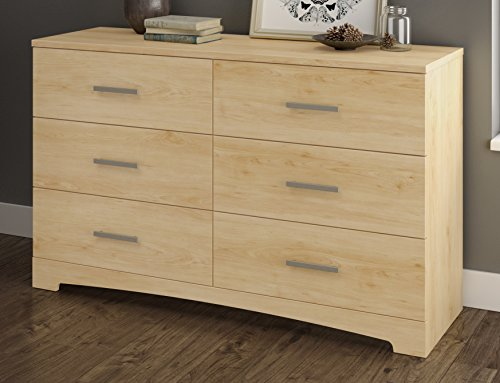 Maple Chest Drawers (South Shore Gramercy 6-Drawer Double Dresser, Natural Maple)