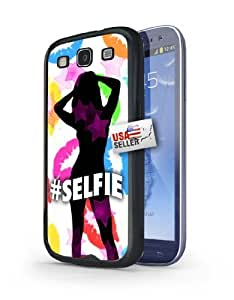 Hashtag Selfie Lips and Stars Art Hard Case for Samsung Galaxy S3