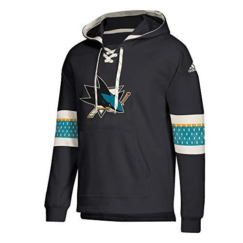 adidas San Jose Sharks Hoodie Pullover Vintage Jersey Hood (Medium)