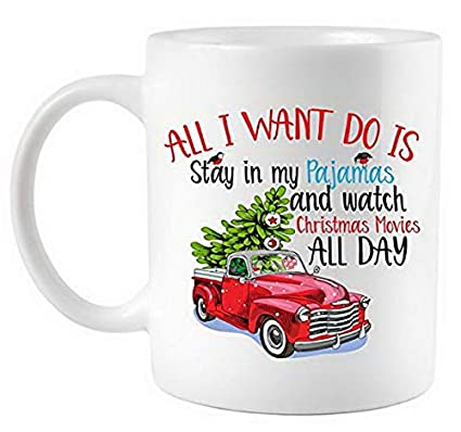 6d9a9d8c14a3 Amazon.com  Ceramic Coffee Cup Christmas Movies And Pajamas Coffee Mug 11  Oz Mugs Coffee Tea Cups By Ugtell  Kitchen   Dining