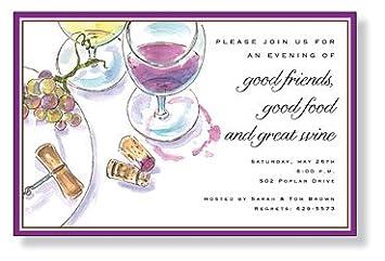 Amazon Com Wine Tasting Invitations Concord Inviting Company Pack