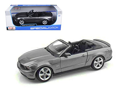 2010 Ford Mustang GT Convertible Gray Special Edition 1/18 Diecast Model Car by Maisto 31158gry