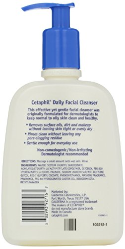 Cetaphil Daily Facial Cleanser Wash for Combination to Oily Sensitive Skin, Gentle Foaming Deep Clean Without Stripping…