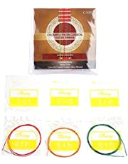 Color Guitar String 6pcs/Set Nylon Classical Strings Standard Tension for Acoustic Guitar Replacement