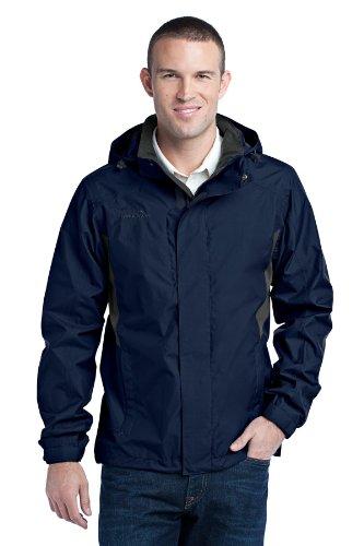 Grey Steel Rain Jacket (Eddie Bauer - Rain Jacket, River Blue/Grey Steel, XXXX-Large)