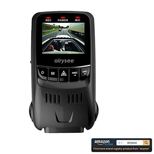 Airysee B40S Upgraded 1.5 Inch LCD Screen Covert Versatile Car Dash Camera DVR Recorder- Genuine Novatek NT96650 Chipset + Aptina AR0330 Lens - 1 Year Warranty
