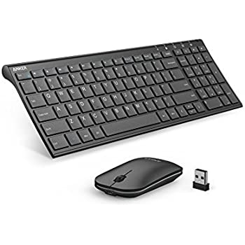 Anker 2.4GHz Wireless Keyboard and Mouse Combo for Windows Devices, Portable Design with Built-in Lithium Battery
