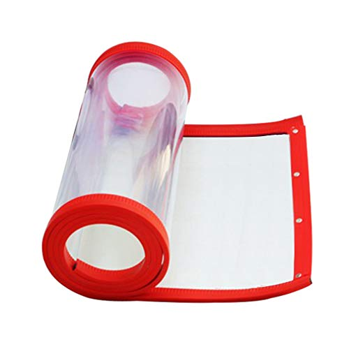 JIANFEI Keep warm magnetic Self-priming PVC,3 colors 23 size customizable (Color : Red, Size : 0.45x2.8m)