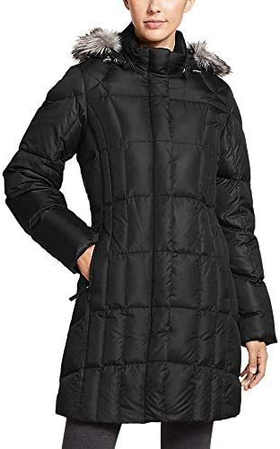 Eddie Bauer Women's Lodge Down Parka, Black Regular L