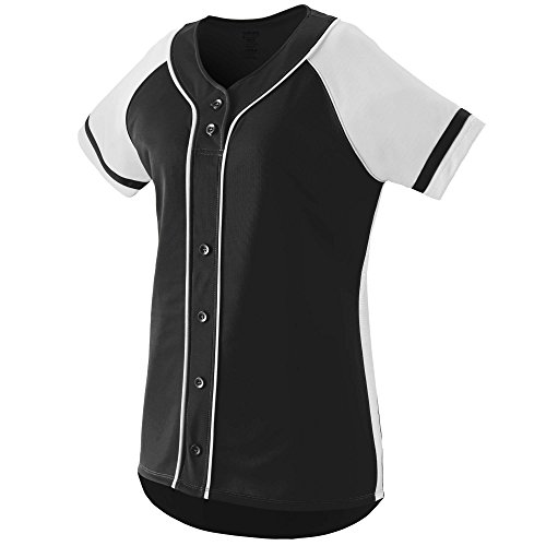 Augusta Sportswear Girls' Winner Softball Jersey L Black/White