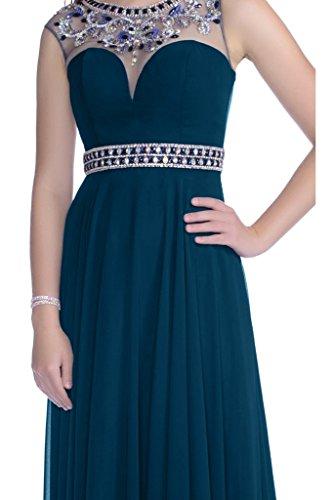 Vestito Sleeveless line Da Blu Spazzata Promenade Scuro Avril Vestito Sera Da A Chiffon Paletta Bordatura In dwIUf