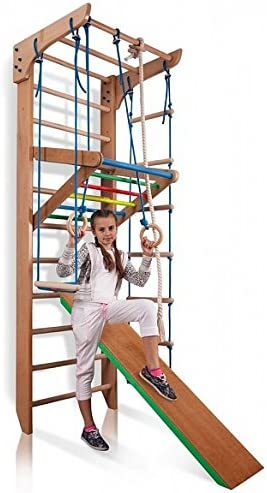Escalera Sueca Barras de Pared Kinder-3-240-COLOR, Gimnasia de los niños en casa, Complejo Deportivo de Gimnasia: Amazon.es: Juguetes y juegos