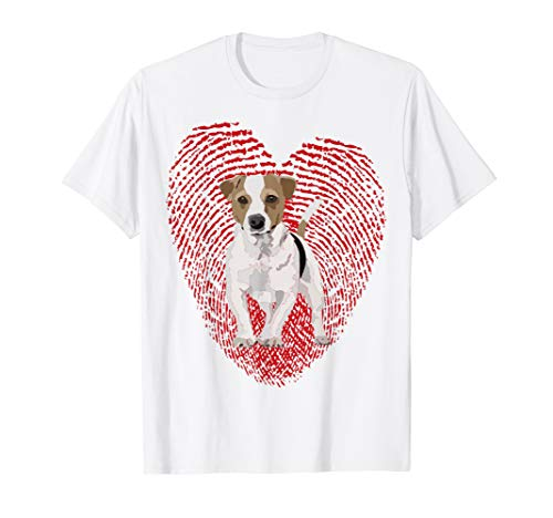 Jack Russell Valentine T-Shirt For Dad Mom Dog Gift for sale  Delivered anywhere in USA