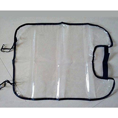 Gogogo Siège de Dos Protecteur Transparent Amovible Anti-salé Suspendu Pad pour Véhicules(Noir) hot sale