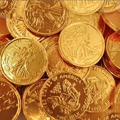 FirstChoiceCandy Large Gold Foiled Milk Chocolate Coins (2 LB)