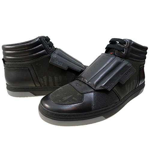 Hugo Boss Mens Transk V Hightop Sneakers Black