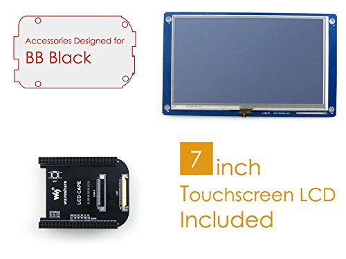 Waveshare BeagleBone Black Rev C Accessories Pack D=LCD Connection Cape+ 7inch LCD+ Cables for Connecting ARM Cortex-A8 Development Board Mini PC by Waveshare-Mini PC