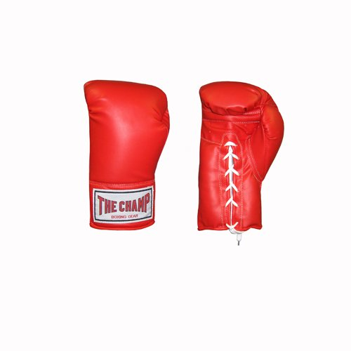 AMBER Champ Laceup Training Gloves 14oz Red