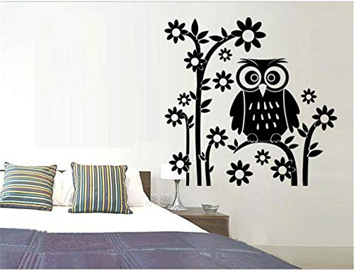 mauned Wall Art Stickers Quotes and Sayings Cute Owls On The Tree Animals Stickers Butterfly for Children Room for Baby Room