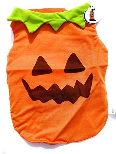 Lightweight Orange Pumpkin Dog Costume Vest - Medium (15