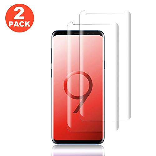 [2-Pack] Galaxy S9 Clear Screen Protector,Cafetec [9H Hardness] [Anti-Scratches] [Anti-Fingerprint] Tempered Glass Screen Protector Film Compatible with Samsung Galaxy S9.