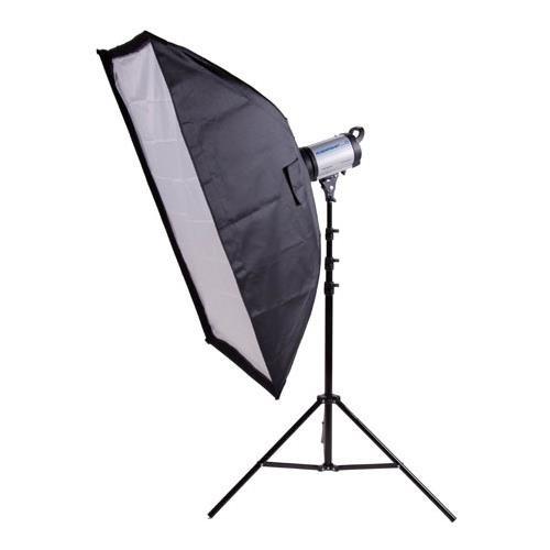 9.5' One Light (Flashpoint 320M Monolight Kit, 150 Watt Second, One Monolight Kit with 9.5' Black Light Stand and 24x36