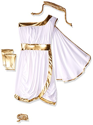 [Forplay Women's Immortal Beauty Costume Set, White, Medium/Large] (Aphrodite Costume)