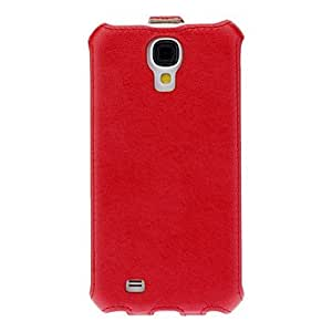 Thermosetting Hair Stripe PU Leather Full Body Vertical Flip Pouches for Samsung Galaxy S4 I9500 --- COLOR:Blue