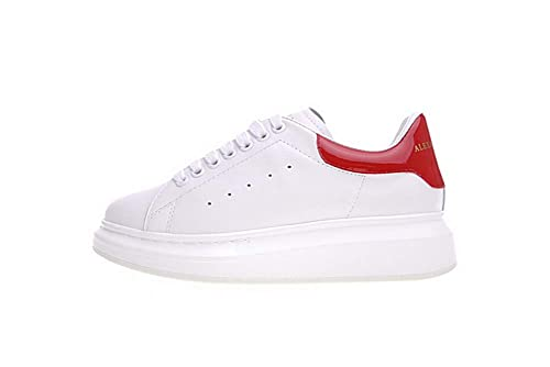 Donna Bianco Casuale Sneakers Running Pelle Sportive Scarpe bf76yg