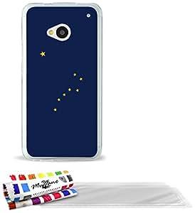 """Carcasa Flexible Ultra-Slim HTC ONE / M7 de exclusivo motivo [Alaska Bandera] [Transparente] de MUZZANO  + 3 Pelliculas de Pantalla """"UltraClear"""" + ESTILETE y PAÑO MUZZANO REGALADOS - La Protección Antigolpes ULTIMA, ELEGANTE Y DURADERA para su HTC ONE / M7"""