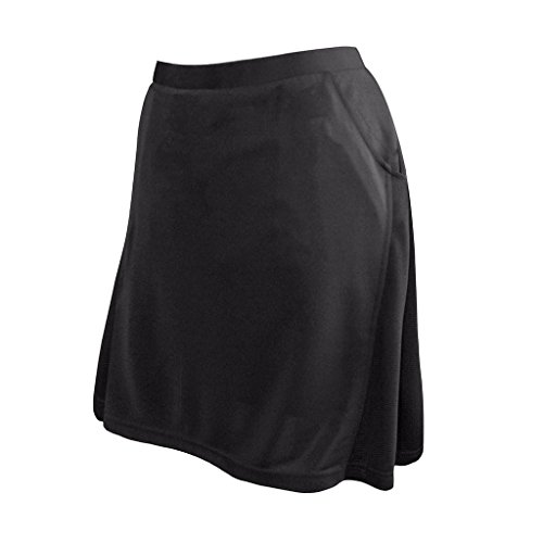 - Monterey Club Ladies Contrast Side Flurry Pull-on Knit Skort #2901 (Black, Small)