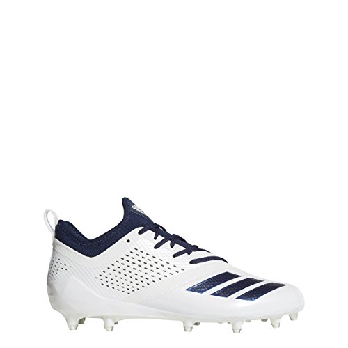 adidas Adizero 5Star 7.0 Cleat Men's Football 11 White-Collegiate Navy